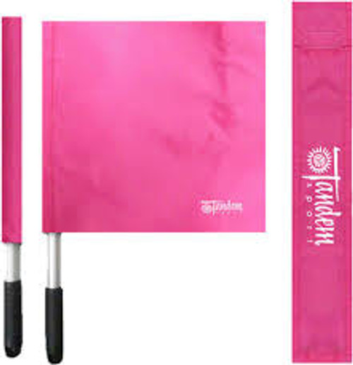 Pink Volleyball Linesman Flags