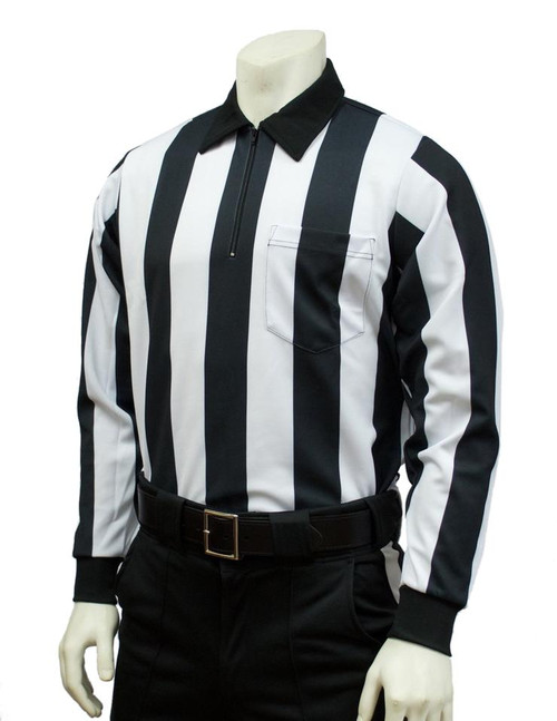 """Smitty Official's Apparel 2 1/4"""" Long Sleeve Football Referee Shirt"""