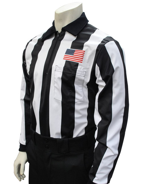 "Smitty 2 1/4"" Stripe Fleece Lined Football Referee Shirt"