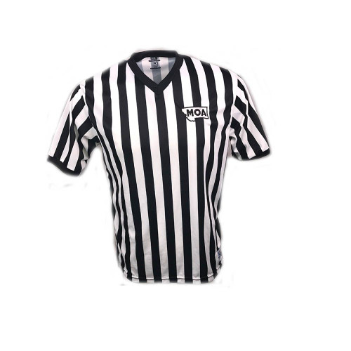 Montana MOA Cliff Keen Black and White Referee Shirt