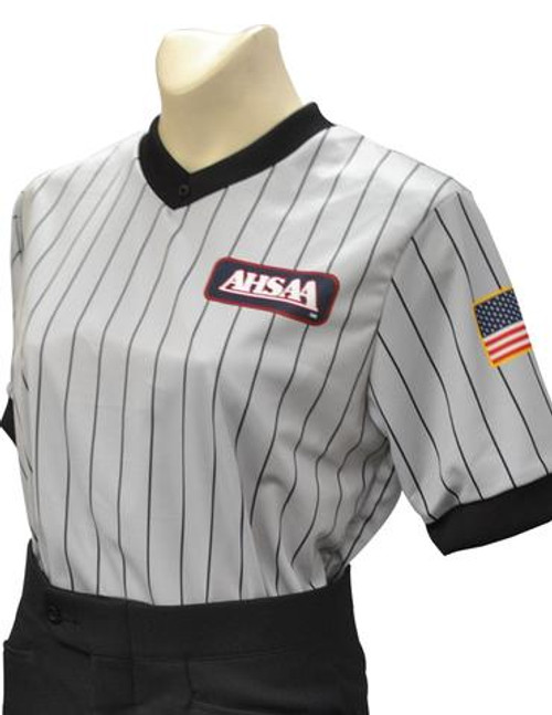 Alabama AHSAA Dye Sublimated Women's Grey Referee Shirt