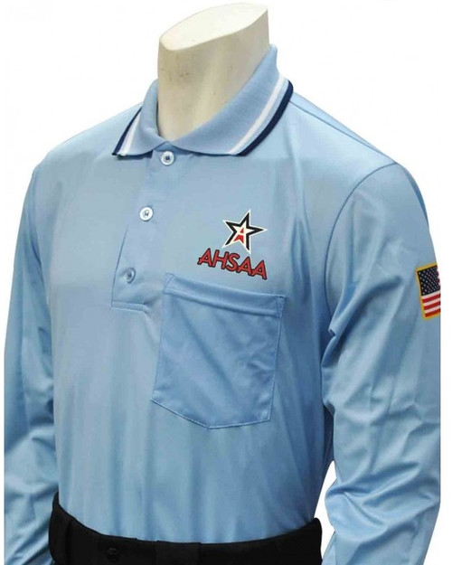 Alabama AHSAA Dye Sublimated Long Sleeve Powder Umpire Shirt