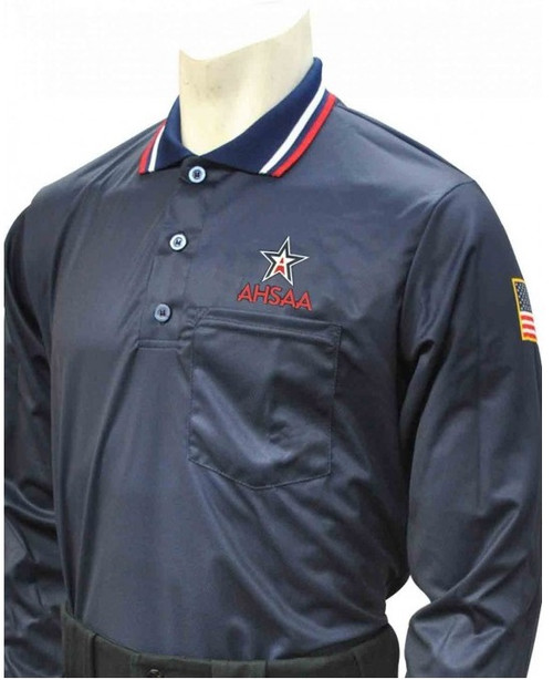 Alabama AHSAA Dye Sublimated Long Sleeve Navy Umpire Shirt