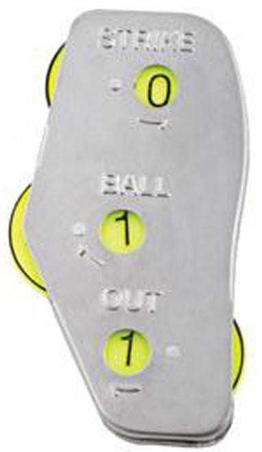 Stainless Steel Optic Yellow 3-Dial Umpire Indicator