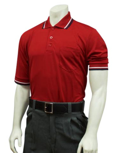 Smitty Official's Apparel Red Ultra Mesh Umpire Shirt