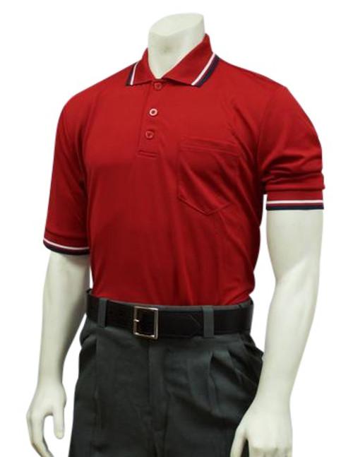Smitty Red Ultra Mesh Umpire Shirt