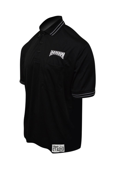 Honig's NAIA Black Baseball Umpire Shirt with White Trim