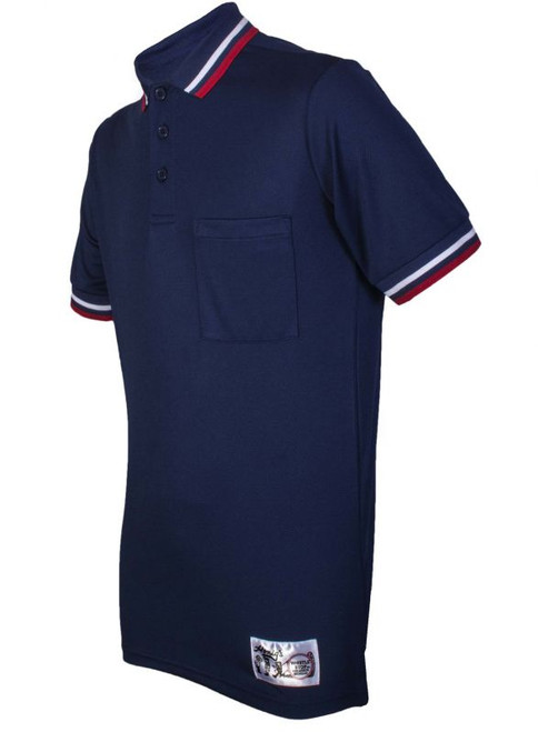 Honig's Navy Blue Umpire Shirt with Red and White Trim