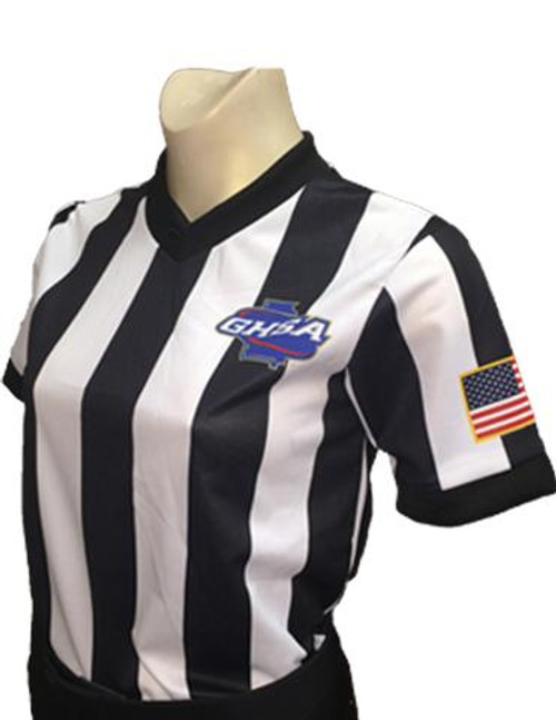 Georgia GHSA Women's Dye Sublimated Basketball Referee Shirt