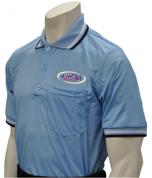 Kentucky KHSAA Powder Blue Dye Sublimated Umpire Shirt No Flag