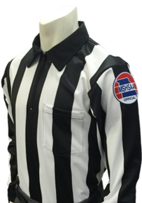 "Missouri  MSHSAA 2 1/4"" Stripe Long Sleeve Football Referee Shirt"