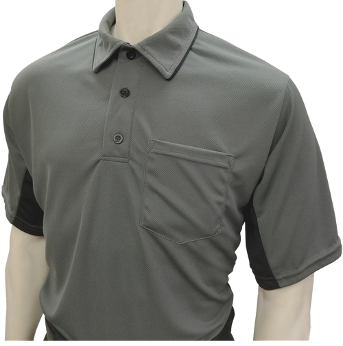 Smitty Official's Apparel MLB Style Charcoal Umpire Shirt with Black Side Panel