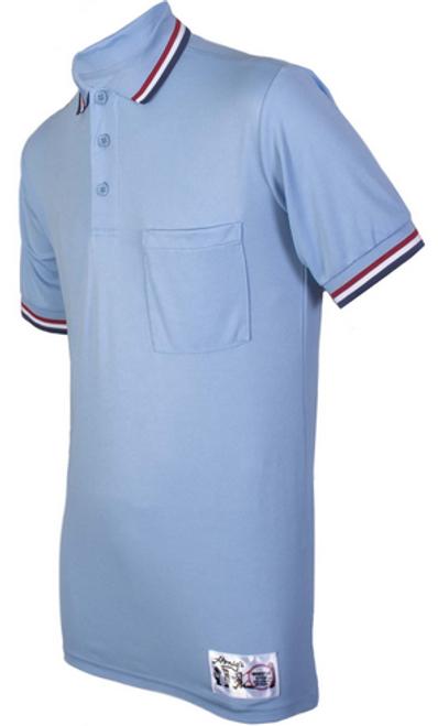 Honig's Powder Umpire Shirt with Red White and Blue Trim