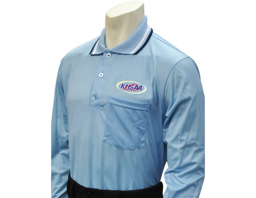 Kentucky KHSAA Powder Blue Dye Sublimated Long Sleeve Umpire Shirt
