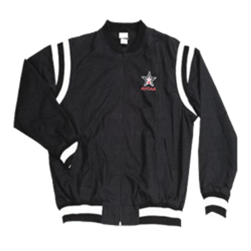 Alabama AHSAA Black Referee Pregame Jacket with White Trim