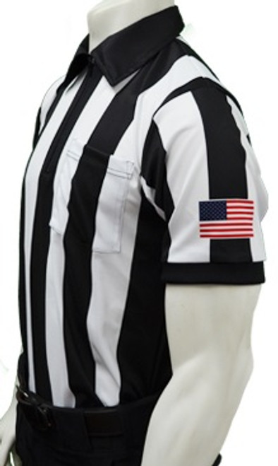 "Wisconsin WIAA 2 1/4"" Short Sleeve Football Referee Shirt Sleeve Flag"
