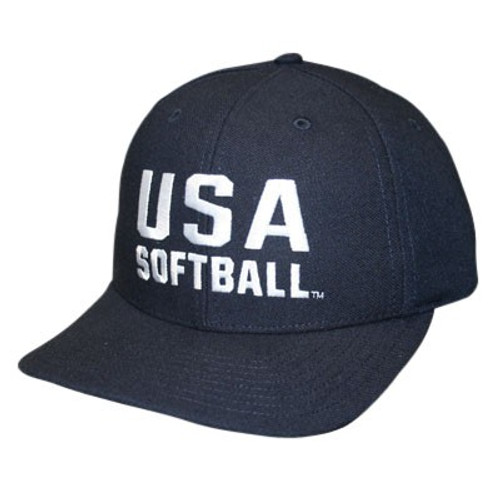 USA Softball Adjustable Wool 3 inch 8-stitch Umpire Cap