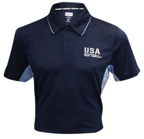 USA Softball Navy Blue Umpire Shirt