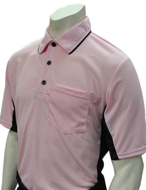 MLB Style Pink Umpire Shirt with Black Side Panel