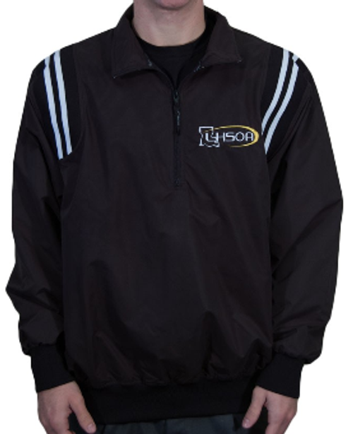 Louisiana LHSOA Baseball Umpire Pullover Black/White Trim
