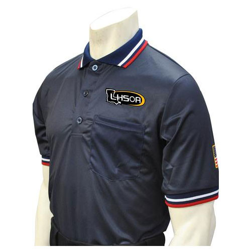 Louisiana LHSOA Embroidered Navy Umpire Shirt