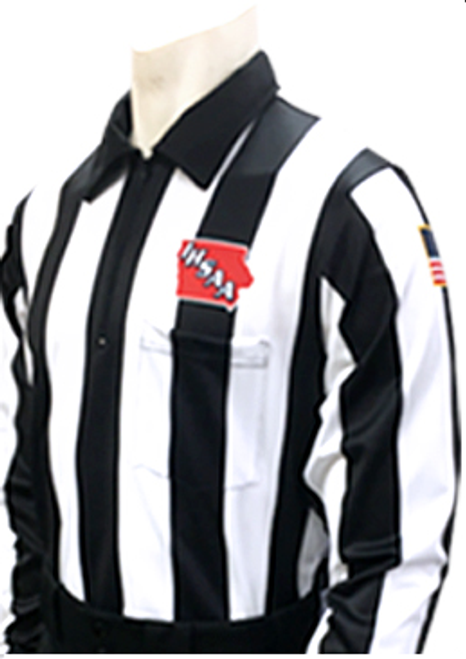 "Smitty Iowa IHSAA 2 1/4"" Dye Sublimated Foul Weather Football Referee Shirt"