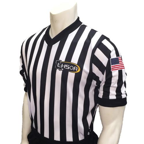 Louisiana LHSOA Embroidered Mesh Basketball Referee Shirt