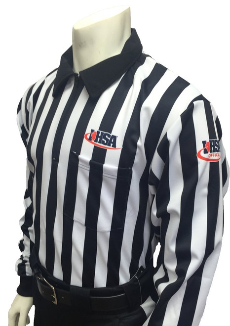Illinois IHSA Smitty Official's Apparel Dye Sublimated Fleece Lined Football Referee Shirt