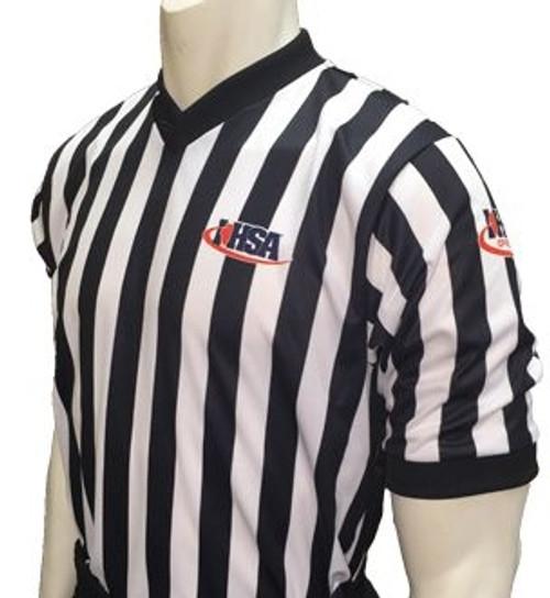 Illinois IHSA Dye Sublimated Men's Basketball Referee Shirt