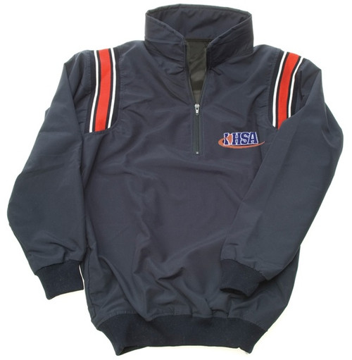Illinois IHSA Navy with Red Trim Umpire Pullover