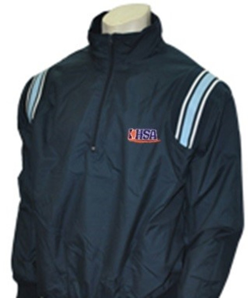 Illinois IHSA Navy with Powder Trim Umpire Pullover