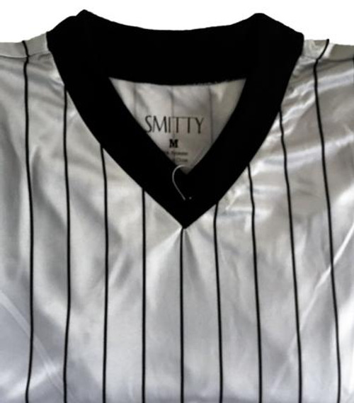 Illinois IHSA Ultra Mesh Gray Pinstripe Wrestling Referee Shirt