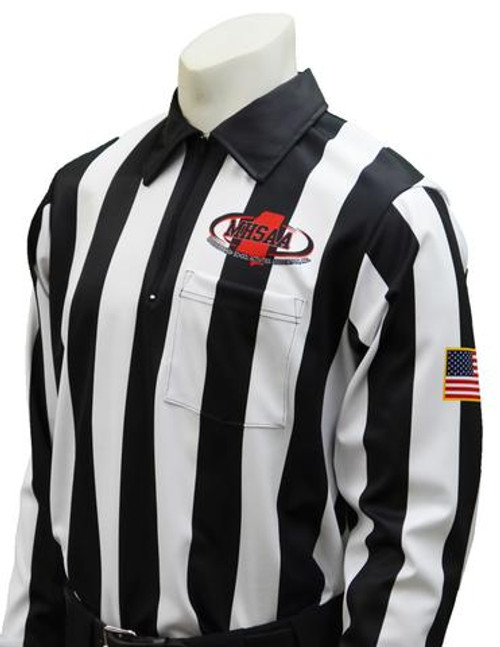 Mississippi MHSAA Foul Weather Long Sleeve Referee Shirt
