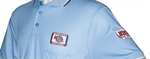 Nebraska NSAA Dye Sublimated Powder Umpire Shirt