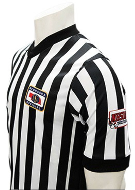 Nebraska NSAA Dye Sublimated Side Panel NHSOA Basketball Referee Shirt