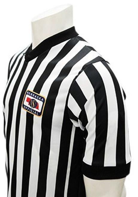 Nebraska NSAA Embroidered Elite Side Panel Basketball Referee Shirt