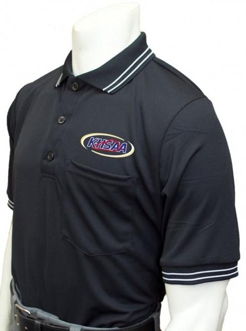 Kentucky KHSAA Black Dye Sublimated Umpire Shirt No Flag