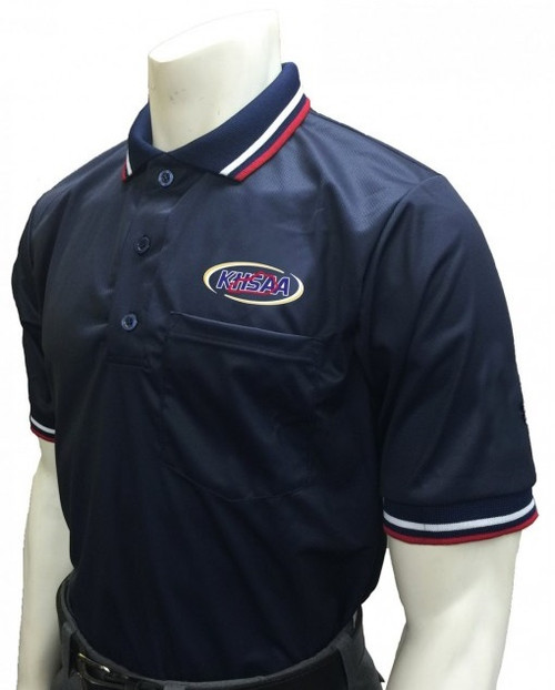 Kentucky KHSAA Navy Dye Sublimated Umpire Shirt No Flag