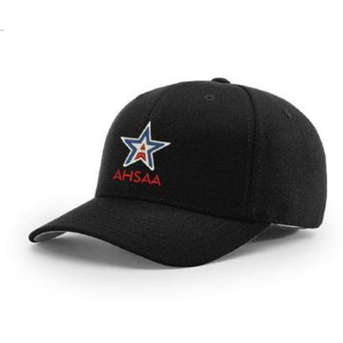 Alabama AHSAA Black Flex-fit Pulse 4-stitch Umpire Cap