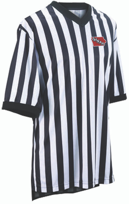 Iowa IHSAA Embroidered Elite Side Panel Basketball Referee Shirt