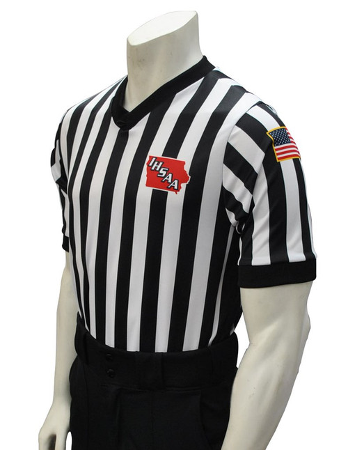 Iowa IHSAA Dye Sublimated Side Panel Basketball Referee Shirt
