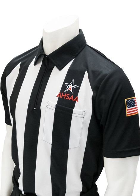 Smitty Official's Apparel Alabama AHSAA Short Sleeve Body Flex® Football Referee Shirt