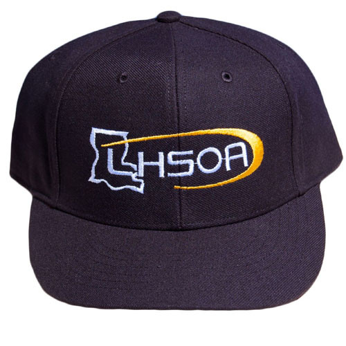 Louisiana LHSOA Fitted Black 8-stitch Mesh Umpire Base Cap