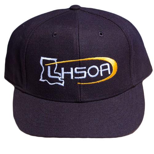 Louisiana LHSOA Flex-fit Pulse Black 8-stitch Umpire Base Cap