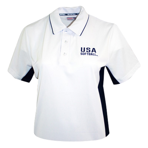 USA Softball White Umpire Shirt
