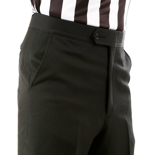 Smitty Flat Front Slash Pocket Premium 4-Way Stretch Tapered Fit Referee Pants