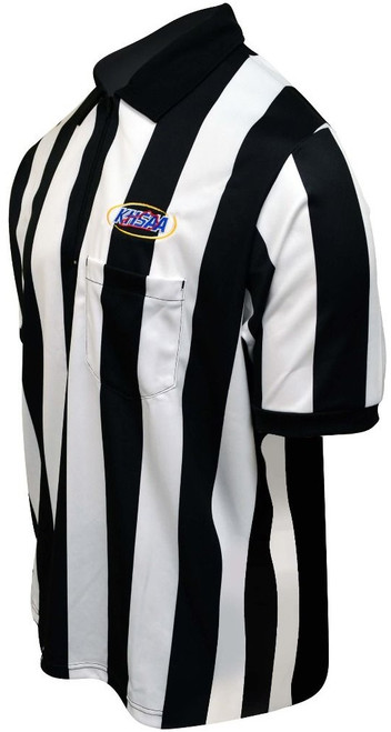 "Honig's Embroidered Kentucky KHSAA Ultra Tech 2"" Stripe Short Sleeve Football Referee Shirt"