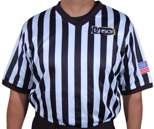 Honig's Ultra Tech Embroidered Louisiana LHSOA Basketball Referee Shirt