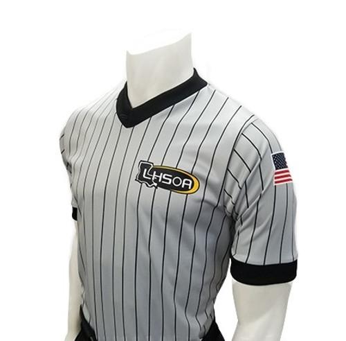 Louisiana LHSOA Embroidered Men's Ultra Mesh Wrestling Referee Shirt