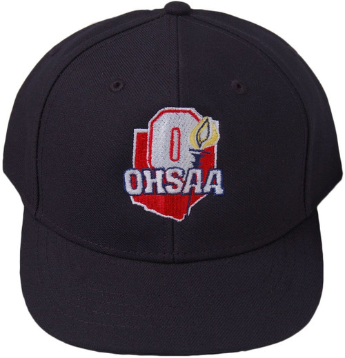 Ohio OHSAA Fitted Wool 6-stitch Umpire Cap